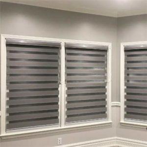 Zebra Blinds Grey